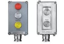 Посты взрывозащищенные кнопочные серии ПВК-ПК из алюминия или пластика с пьезокнопками, РО EхiaI, 0EхiaIICT6